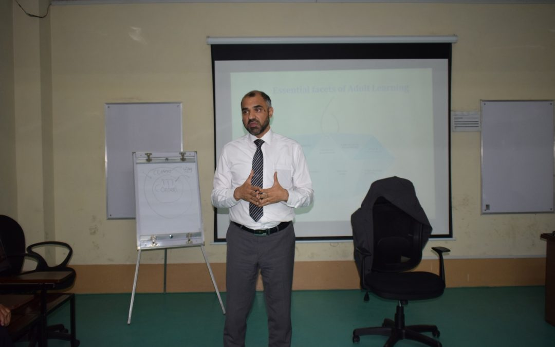 Mr. Kamran Ahmed Siddiqui International Trainer Conducting a Productive Session of Training of The Trainers in ISE