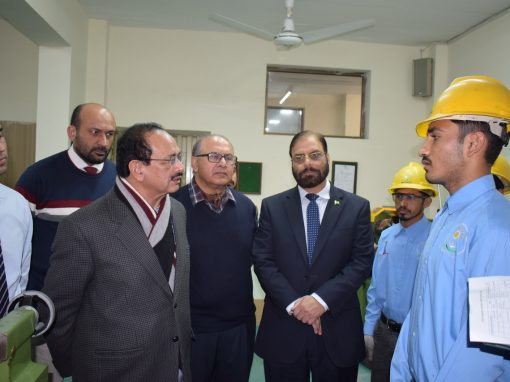 Zulfiqar Ahmad Cheema Executive Director and Director General Haji M. Dogar NAVTTC Visit to Infinity School of Engineering