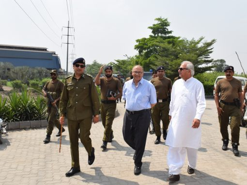 Civil Administration Sheikhupura including Tehsildar Lahore, DIG and DPO Sheikhupura visited ISE