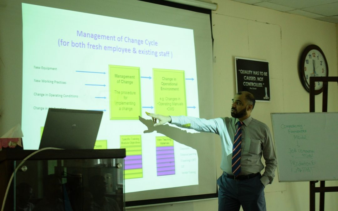 International Trainer Kamran Ahmed Siddiqui Giving Competency Based Training to ISE Staff