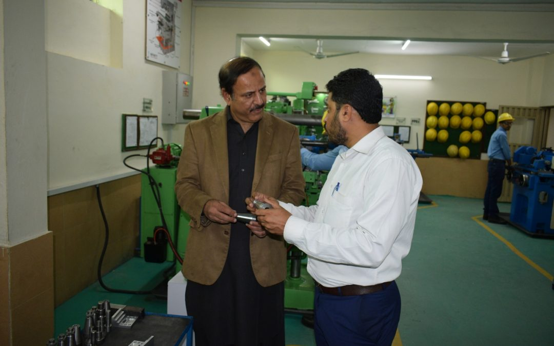 "Mr Zahid Qureshi from ""Trans Arabian company"" visited Infinity School of Engineering"