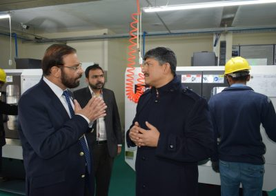 MD Karachi Shipyard & Engineering Works Ltd. Rear Admiral Ather Saleem was kind to visit Infinity School of Engineering