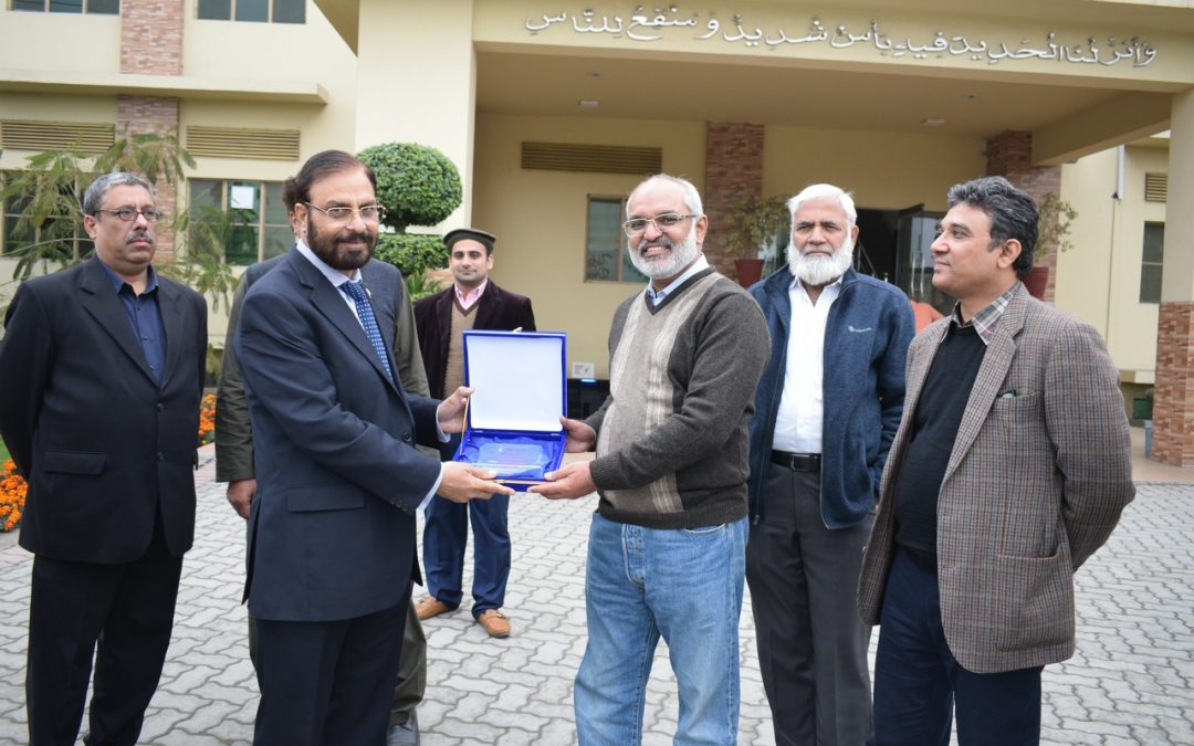 Director Corporate Strategy and Regulatory Affairs from M/S Indus Motor Company (Toyota) with a team of senior Journalists visited Infinity School of Engineering