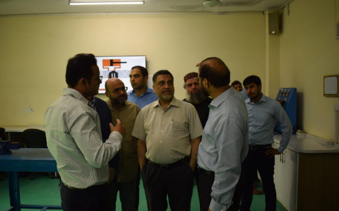 Sh Asas Ur Rehman CEO Solitair jwelers along with CEO Rubbi Jewlers and others  visited Infinity School of Engineering