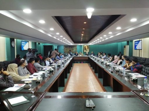 An orientation was conducted at Lahore Chamber of Commerce and Industry (LCCI)